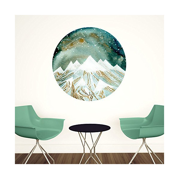 My Wonderful Walls Summer Starlight Wall Decal Zodiac Art by Elise Mahan, Medium, Multicolored