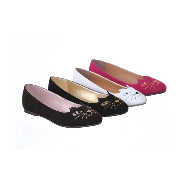 New! Cute Kitten Ballet Flats