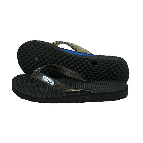 """Locals Arch Massage Black w/Black Strap Slippa Flip Flops (12"""")"""