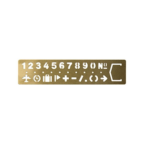Midori Brass Template Bookmark, Number (42168006)