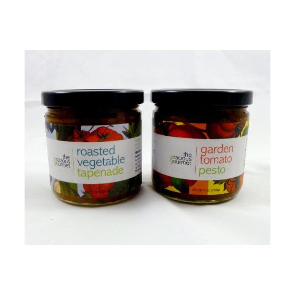 The Gracious Gourmet Tapenade Duo, Vegetable and Garden Tomato , 14-Ounce