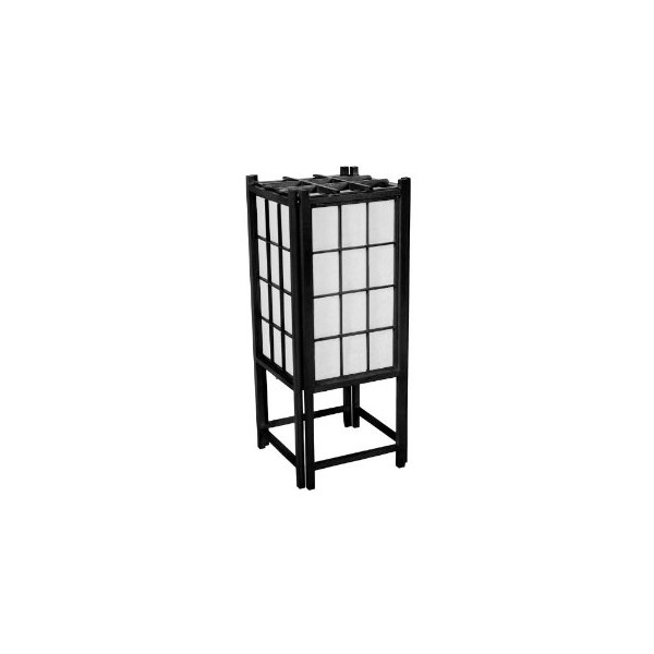 Oriental Furniture Best Simple Beautiful Home Decor Gift Idea, 18-Inch Japanese Rice Paper Lantern, Black