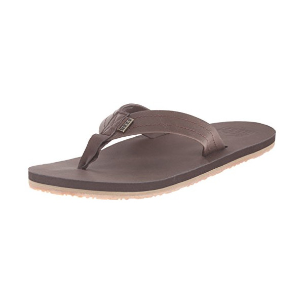 Reef Men's Crew SL Flip Flop, Dark Brown, 12 M US