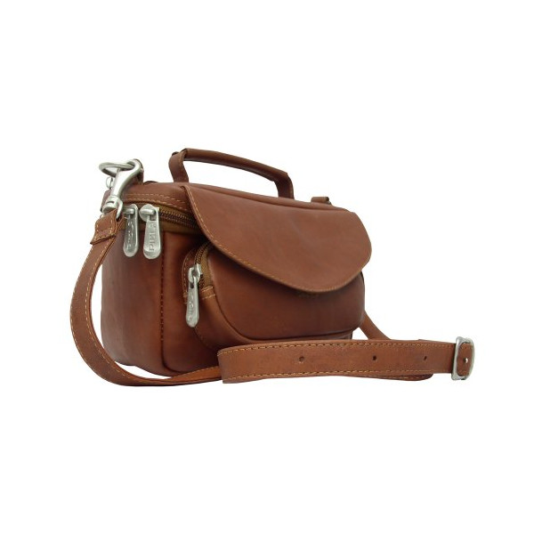 Piel Leather Deluxe Carry-All Camera Bag, Saddle, One Size