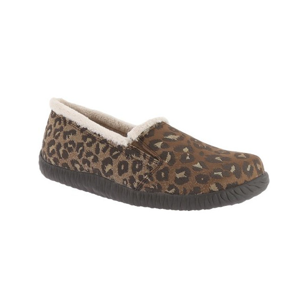 Vionic with Orthaheel Technology Women's Geneva Slipper,Tan Leopard,US 10 M