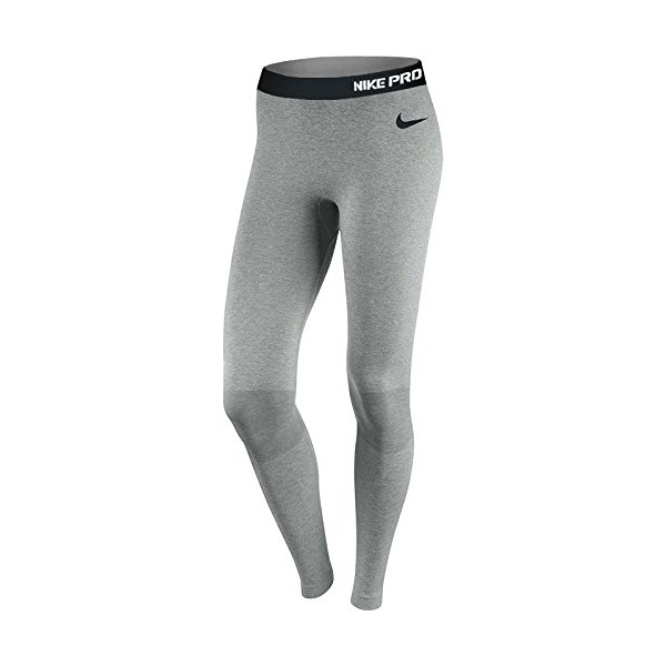 Nike Women's Pro Hyperwarm Seamless Tights, Grey Heather (Medium)