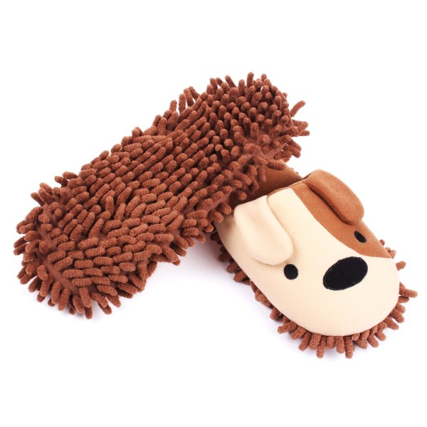 HomeTop Plush Fluffy Cute Animal Microfiber Slippers