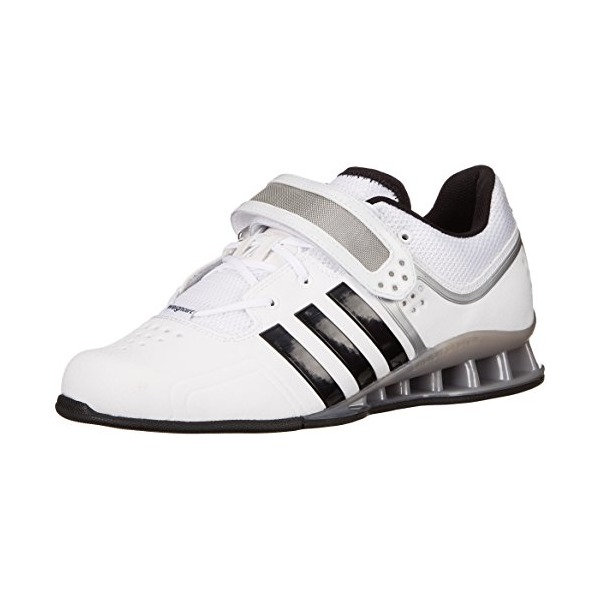adidas Performance Adipower Weightlifting Trainer Shoe, White/Black/Tech Grey, 9.5 M US