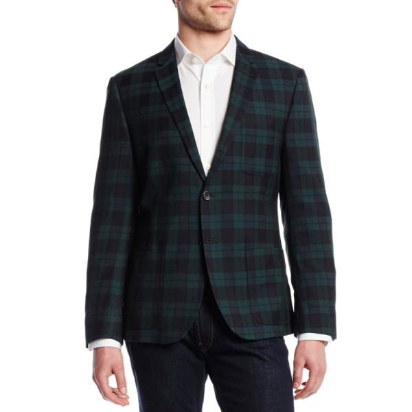 Dockers Men's Green Swatch Plaid Blazer, Green