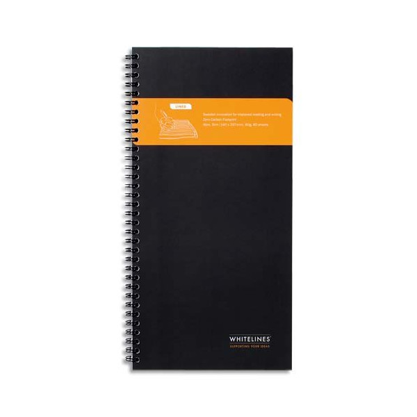Whitelines Wire Slim Squared Notebook - Black (Whitelines Wire Slim Notebooks)