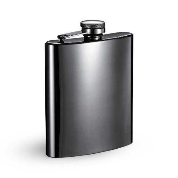 Visol Gunmetal Hip Flask, 8-Ounce