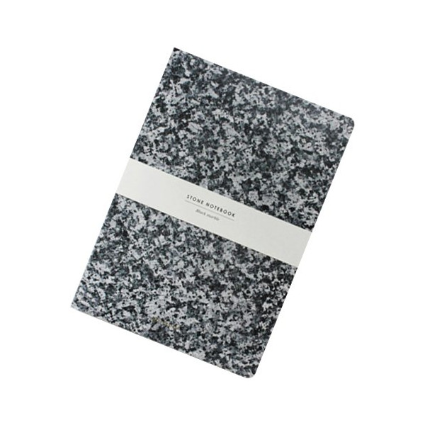 STONE NOTEBOOK-Black Marble