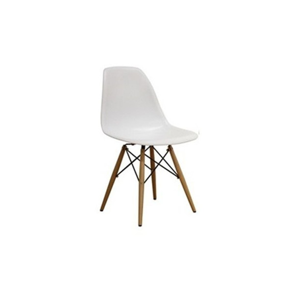 Designer Modern Plastic Dining Side Chair WoodLeg Eiffel Base Set of 2