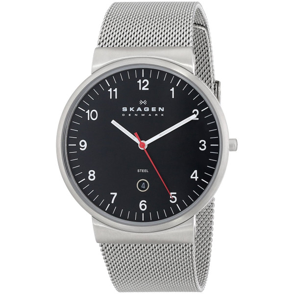 Skagen Men's SKW6051 Hiro Quartz 3 Hand Date Stainless Steel Silver Watch