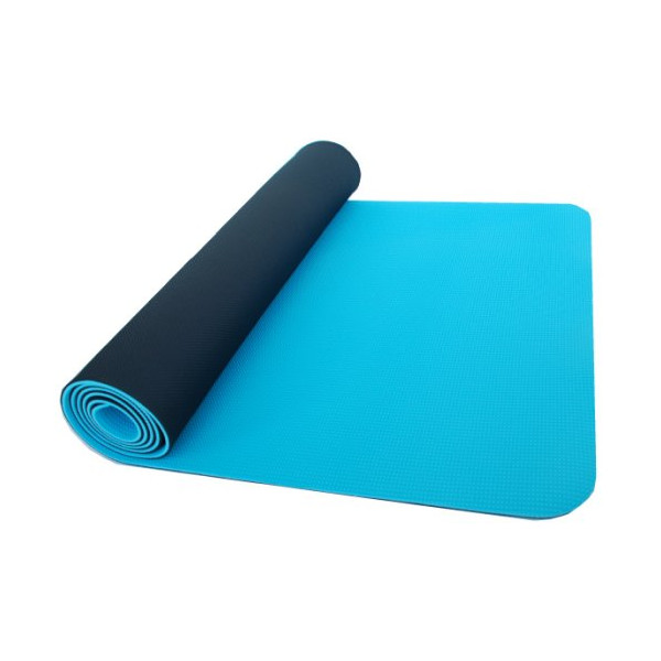 Thinksport Yoga Mat, Black/Blue