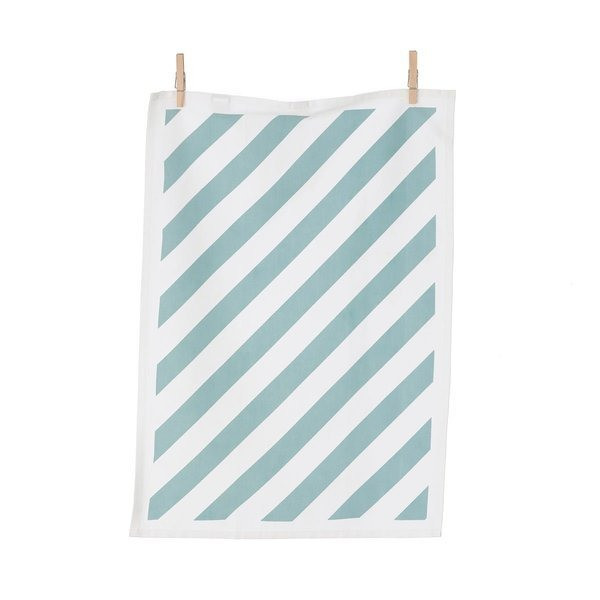 Ferm Living Stripe Tea Towel, Mint