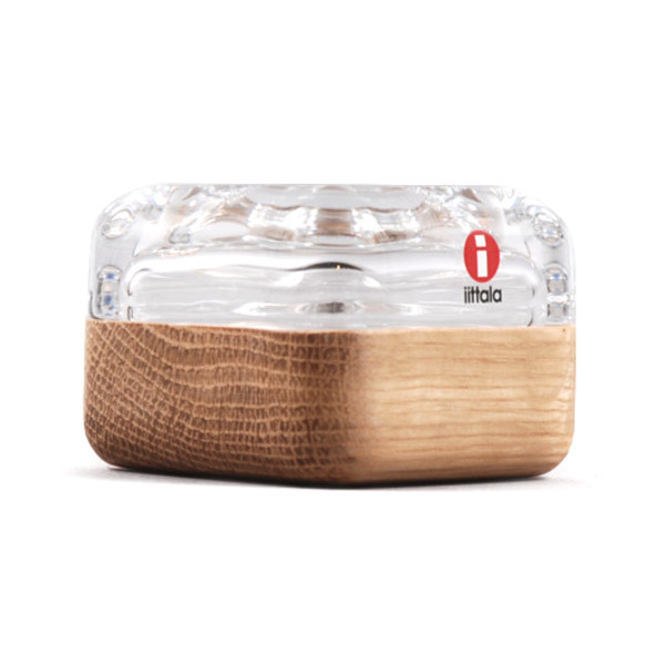 Iittala Vitriini Small Box, Clear and Oak