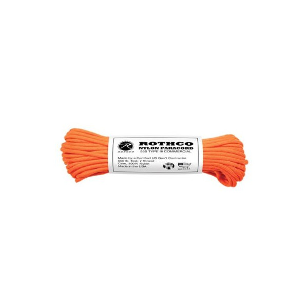 Rothco 550-Pound Safety Type III Commercial (50 Feet, Orange)
