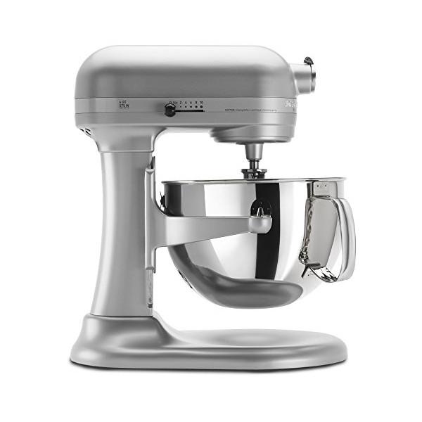 KitchenAid KP26M1XNP5 Professional 600 Series 6-Quart Stand Mixer, Nickel Pearl