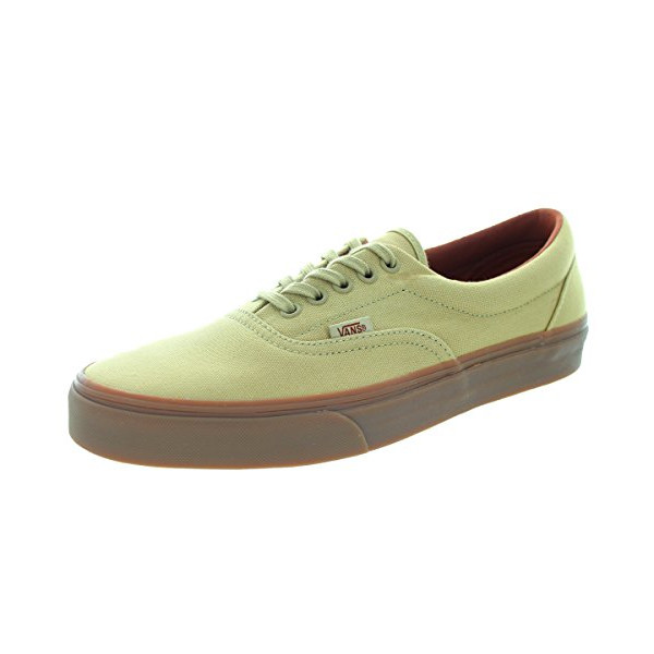 Vans Unisex Era (Gumsole) Khaki/Meduim Gum Canvas Shoe 10 Men US / 11.5 Women US
