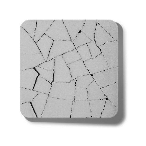Kalki'd Water Absorbent Coaster Dry Land, Grey