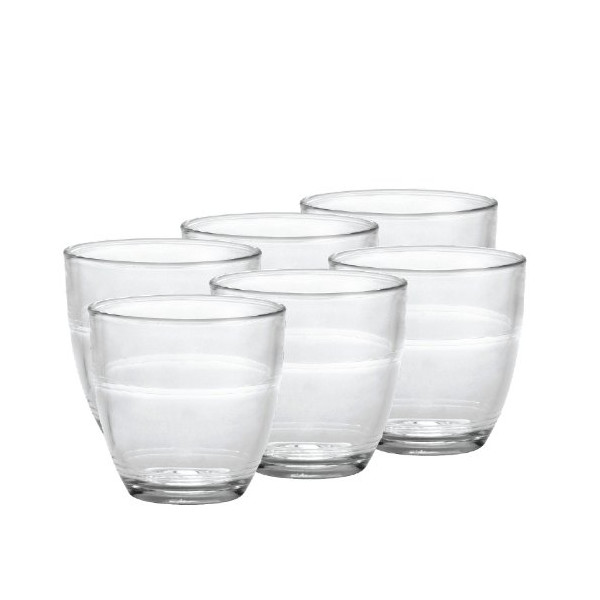 Duralex Gigogne 5-3/4-Ounce Glass, Set of 6