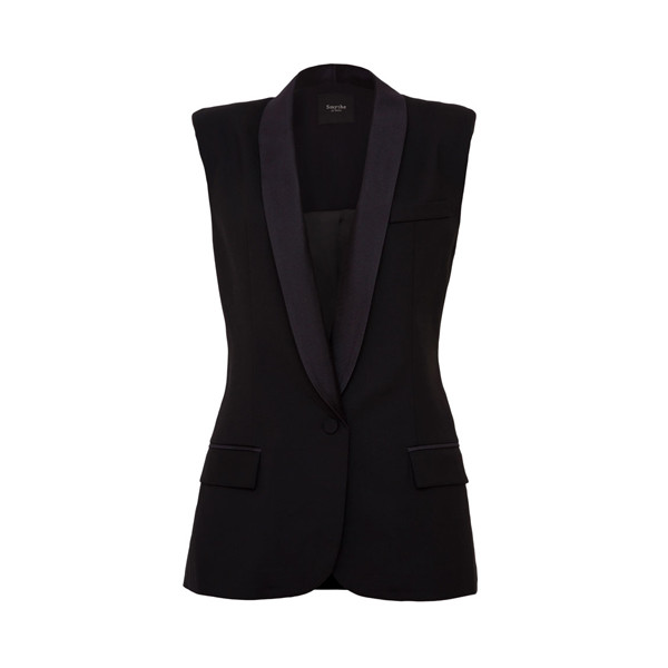Smythe Women's Tuxedo Vest, Black