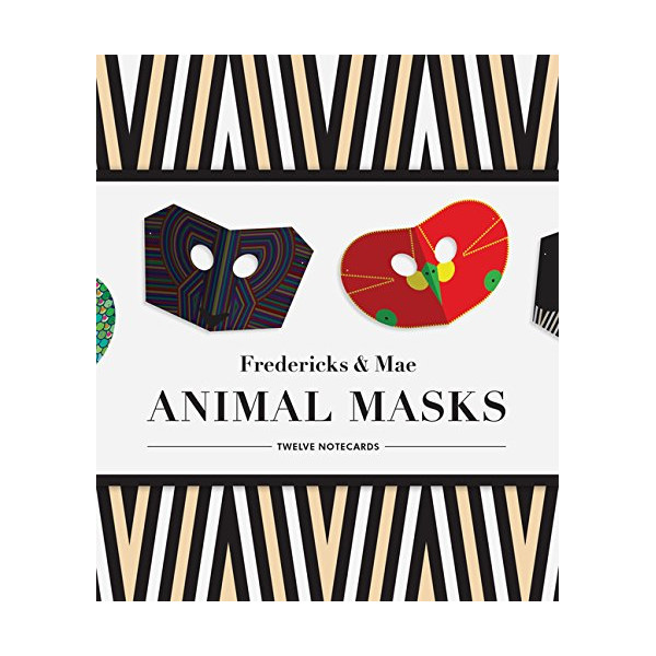 Fredericks & Mae Animal Masks: Twelve Notecards