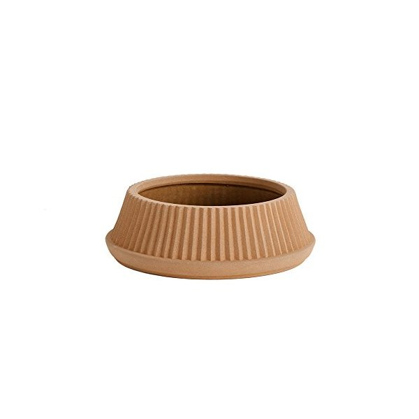 Pleated Earthenware Planter Dish