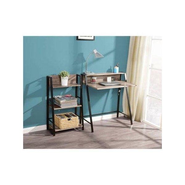 Mainstays 2-tier Writing Desk,reclaimed Wood