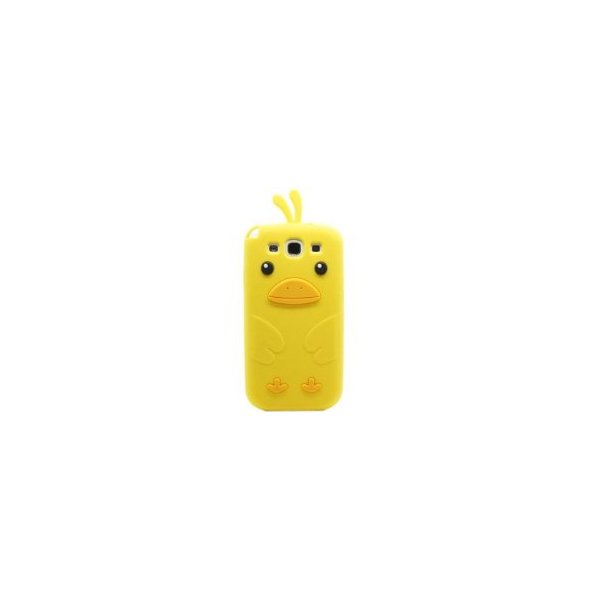 Cute 3D Chicken Silicone Case Cover Skin for Samsung Galaxy S3 i9300 Yellow