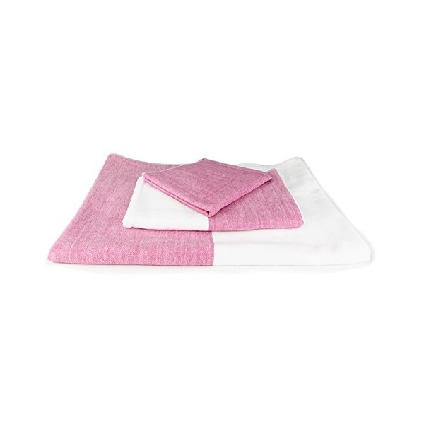 Morihata - Yoshii Two-Tone Chambray Bath Towel (Pink/White)
