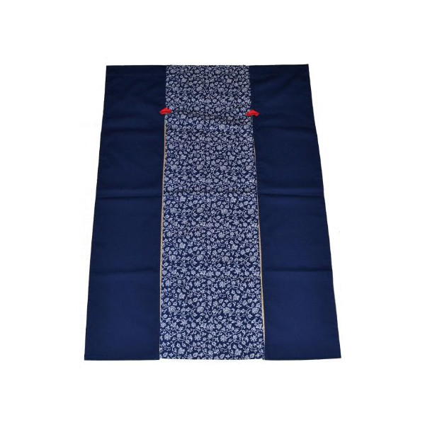 Japan Indigo dyed Karakusa Design Combination Cotton Cloth Noren Curtain