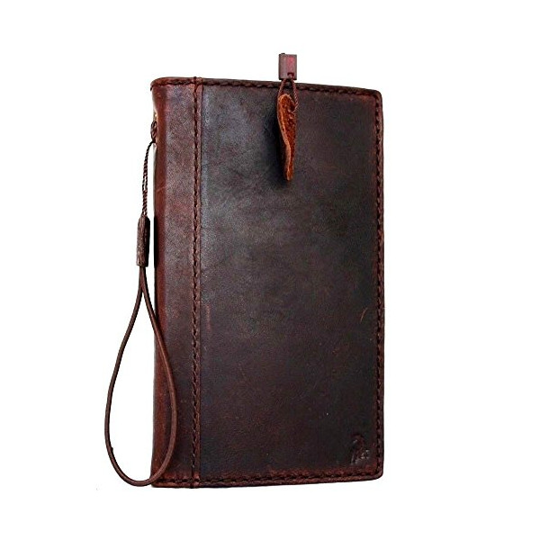 Genuine Italy Oil Leather Case for Iphone 6 Plus + Book Wallet Handmade Business Handmade New Free Shipping !