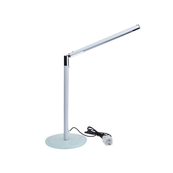 Sunsbell LED Adjustable Desk Light 1W USB Glass Base Student Reading Light (White)