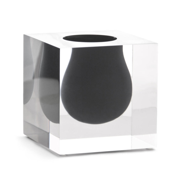 Jonathan Adler, Bel Air Mini Scoop Lucite Vase, 4.25 in