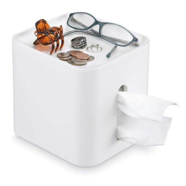 Polder Tissue Pod, White