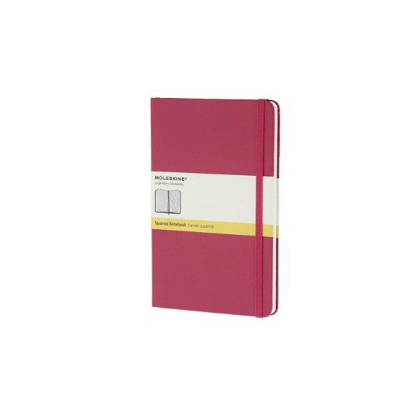 Moleskine Classic Notebook, Large, Squared, Magenta, Hard Cover (5 x 8.25) (Classic Notebooks)
