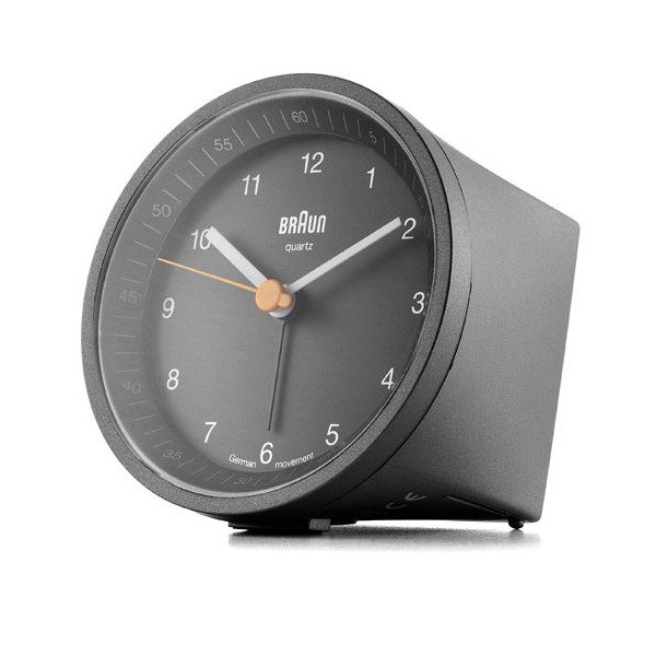 Braun Classic Light Analog Quartz Alarm Clock, Black
