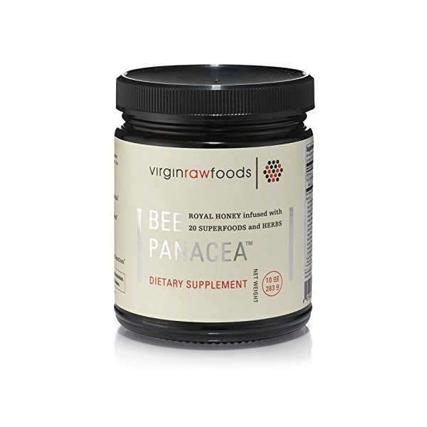 Bee Panacea - A Unique Formula of Royal Honey Infused with 21 Superfoods and Herbs - Includes Ormus (10 Oz)