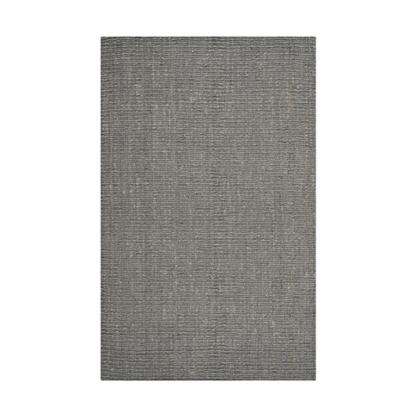 Safavieh Natural Fiber Collection NF447G Hand Woven Light Grey Jute Area Rug, 5 feet by 8 feet (5' x 8')
