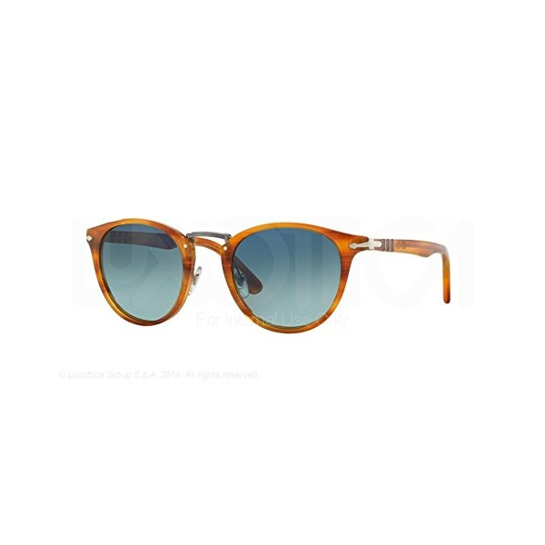 Persol Sunglasses PO3108S 960/S3 Striped Brown Light Blue Grad Dlue Polar 47 22 145