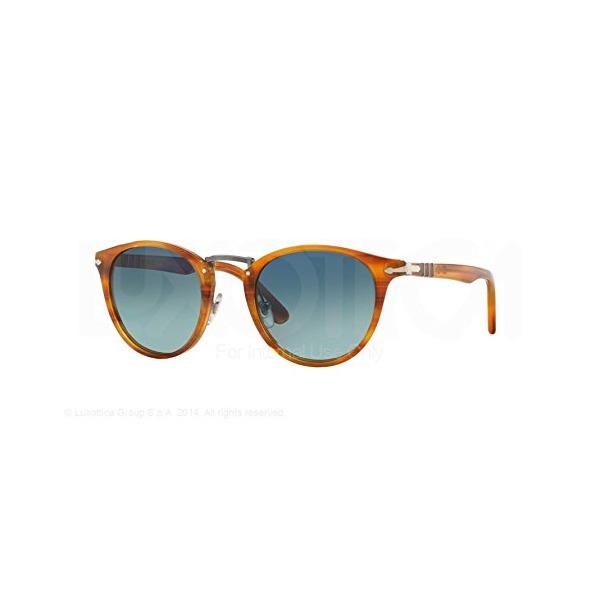 Persol Sunglasses PO3108S 960/S3 Striped Brown Light Blue Grad Dlue Polar 47 22 145