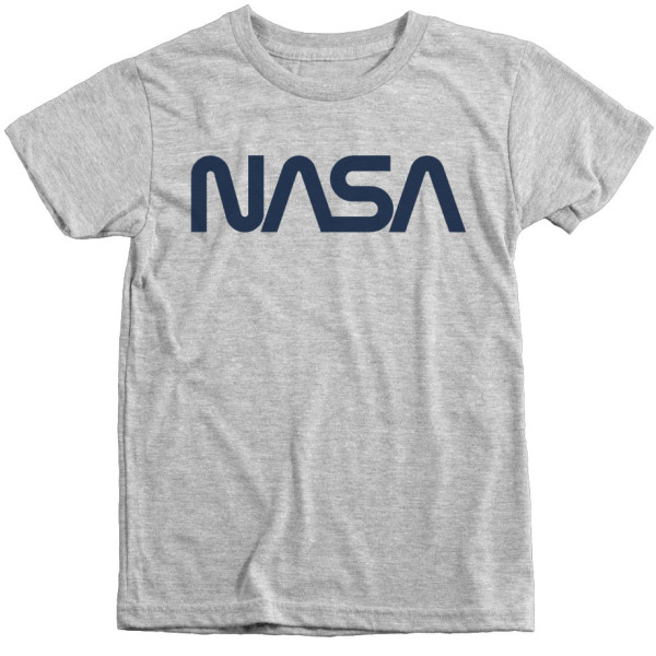Trunk Candy Vintage NASA Worm Logo Premium Tri-Blend T-Shirt, Heather White