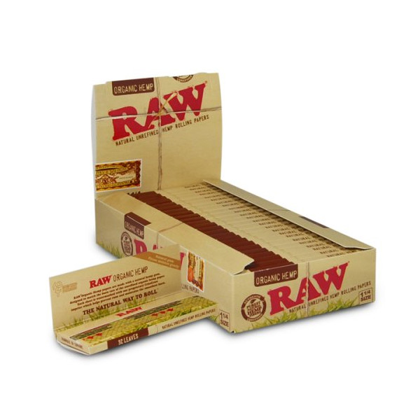 RAW Organic 1 1/4 Rolling Papers 24ct, BOX