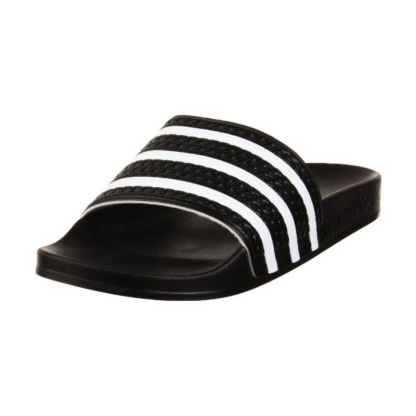 adidas Men's Adilette Slide Sandal,Black/White/Black,11 M US