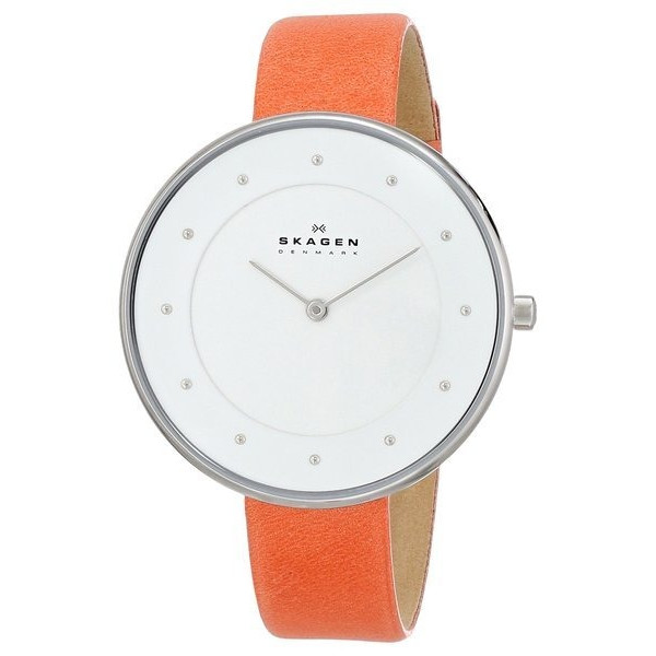 Skagen Women's Gitte Quartz 2 Hand Stainless Steel Orange Watch