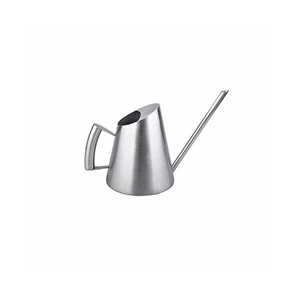 IMEEA Watering Can Modern Small Size for Bonsai in The Office or for Kids 11Oz/300ml Brushed Solid SUS304 Stainless Steel