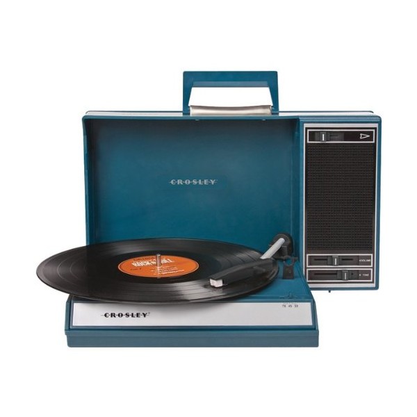 CROSLEY RADIO CR6016A-BL Spinnerette Turntable (Blue)