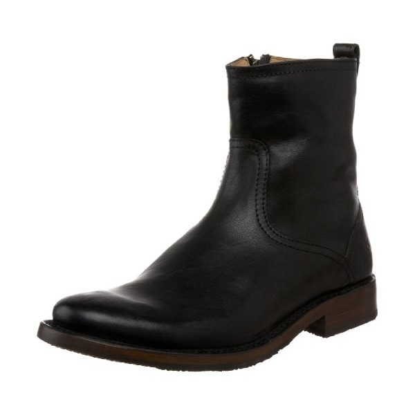 FRYE Men's Oliver Inside Zip TumbledBlack12 M US